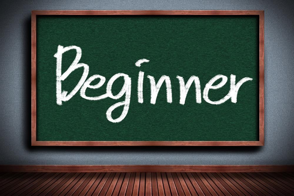 「Beginner」と書かれた黒板