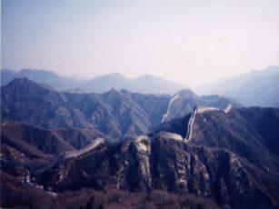 万里の長城の俯瞰写真