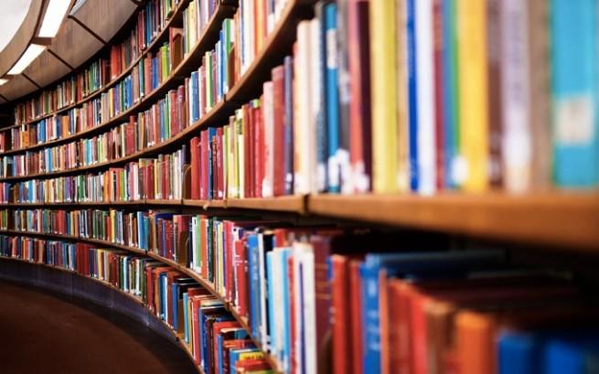 沢山の本が収納された、大きな本棚