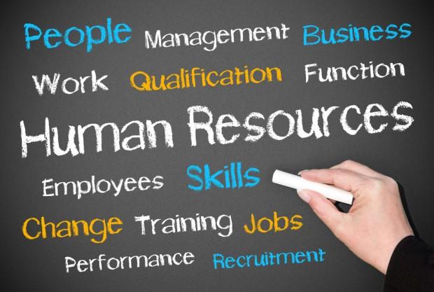 黒板に「Human Resources」と書かれた画像