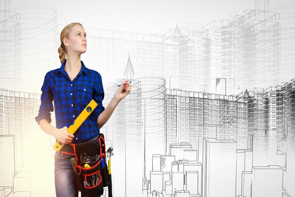 建築士を目指す女性