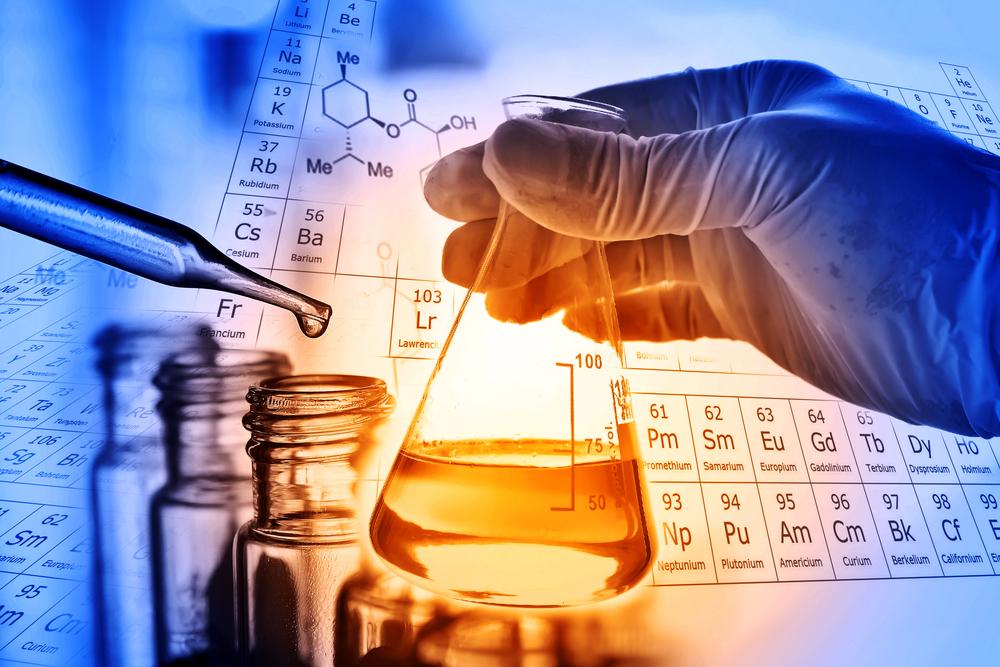 化学の研究をしている様子