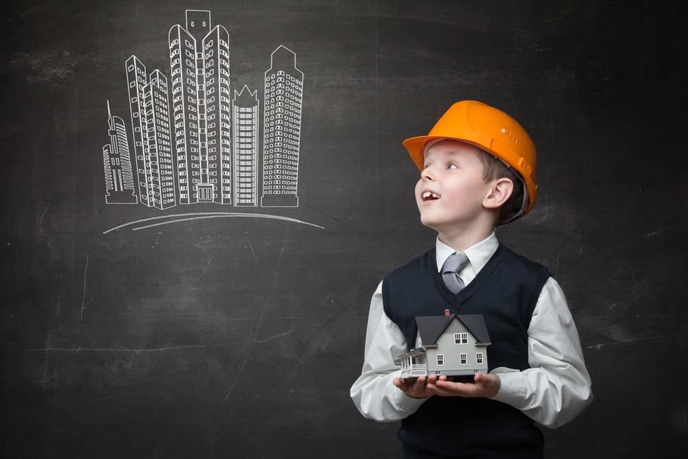 建築について興味のある少年