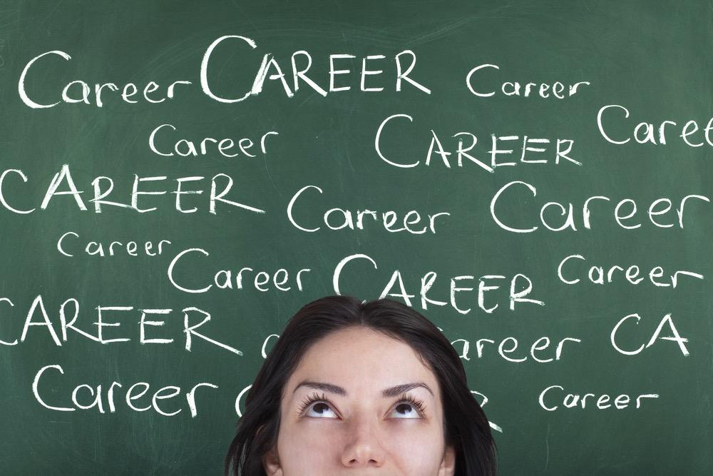 「Career」と書かれた黒板の画像