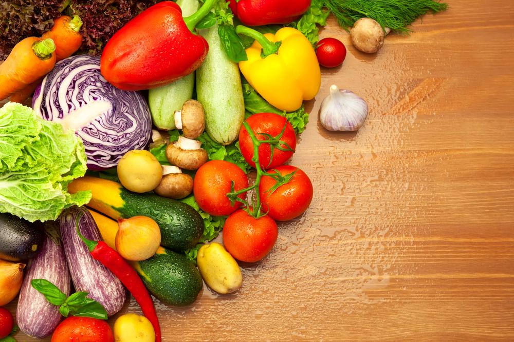 たくさんのカラフルな野菜