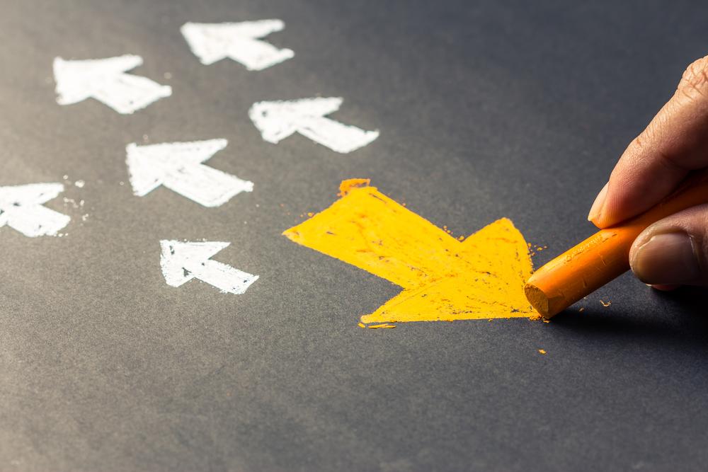 就職活動の方向性を明確にするイメージ