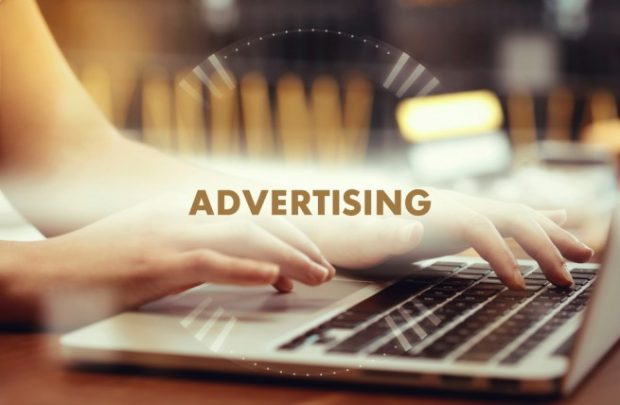 『advertising』と書いてある画像