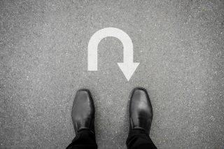 Uターン就職を考える人の足元