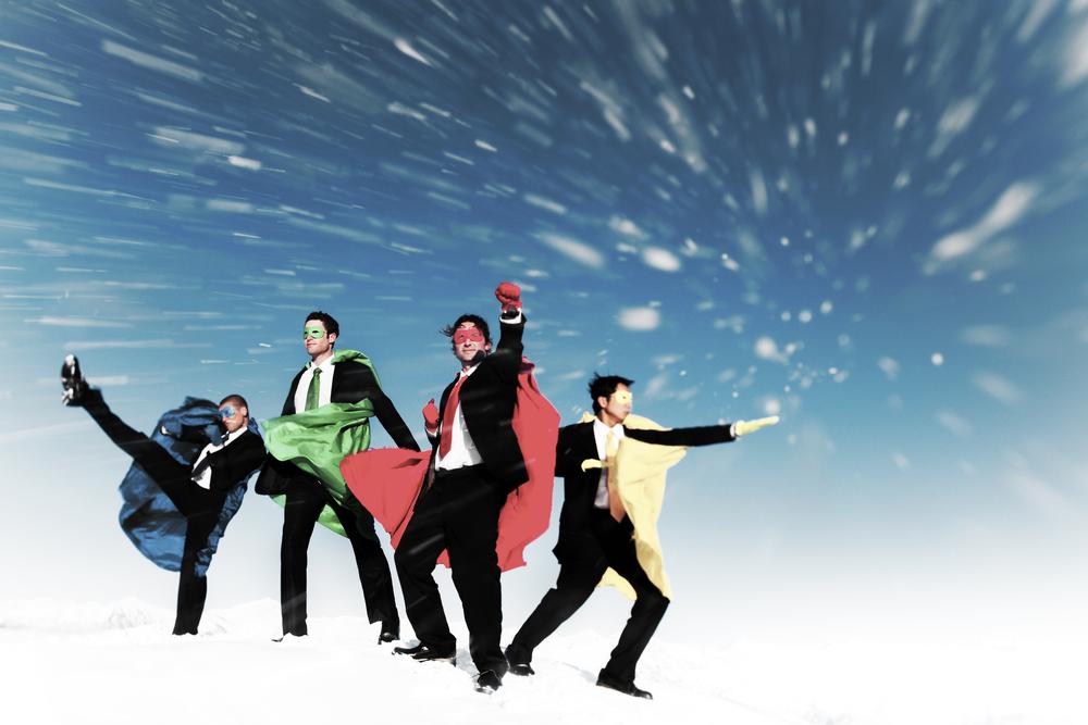スーツを着たスーパーマン