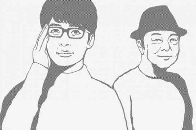 メガネをかけた男性と帽子をかぶった男性