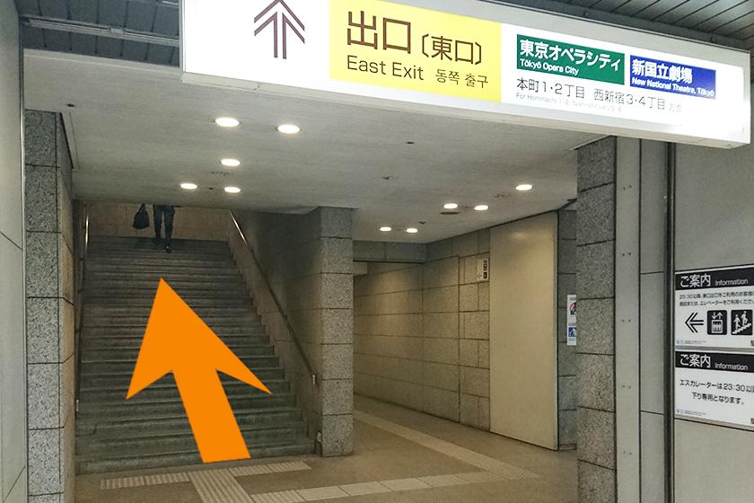 出口へ向かう階段