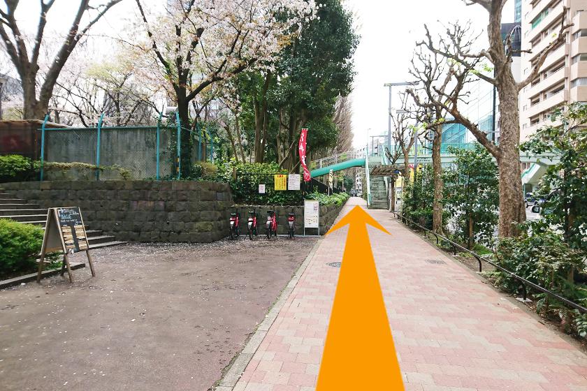 「新宿中央公園」を左側に坂を上ります
