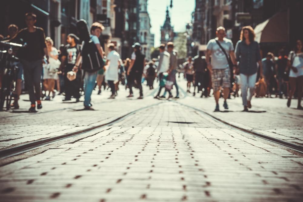 都会の雑踏