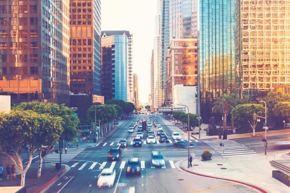 ビジネス街の風景