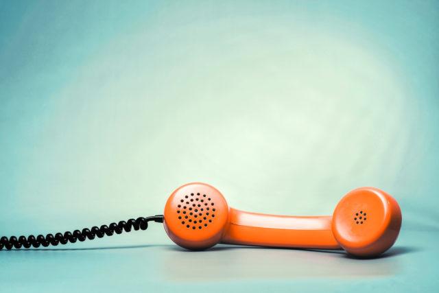 電話代行ヘルプマンを表現している電話機の画像